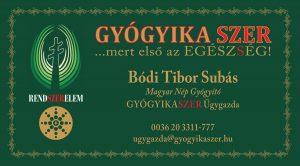 Bódi Tibor Subás +36 20 331-1777